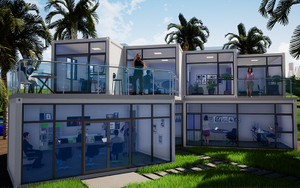Custom 20FT 40FT Luxury Prefab Container House Modern Double Storey Prefab House