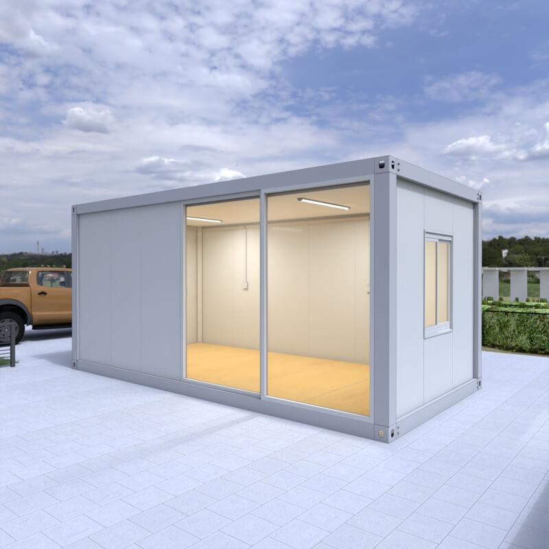 Two Floor Government Office Project Prefab Flat Pack Modular Container House Cabin