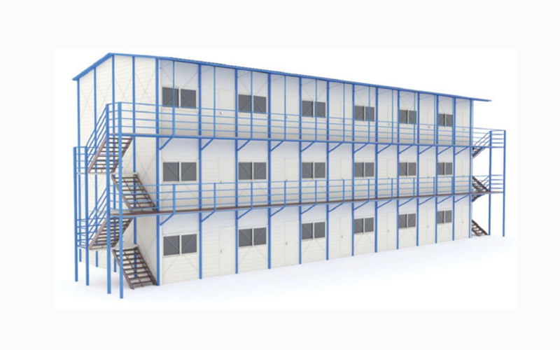 China fast construction cheap prefabricated house steel prefab house in Algeria