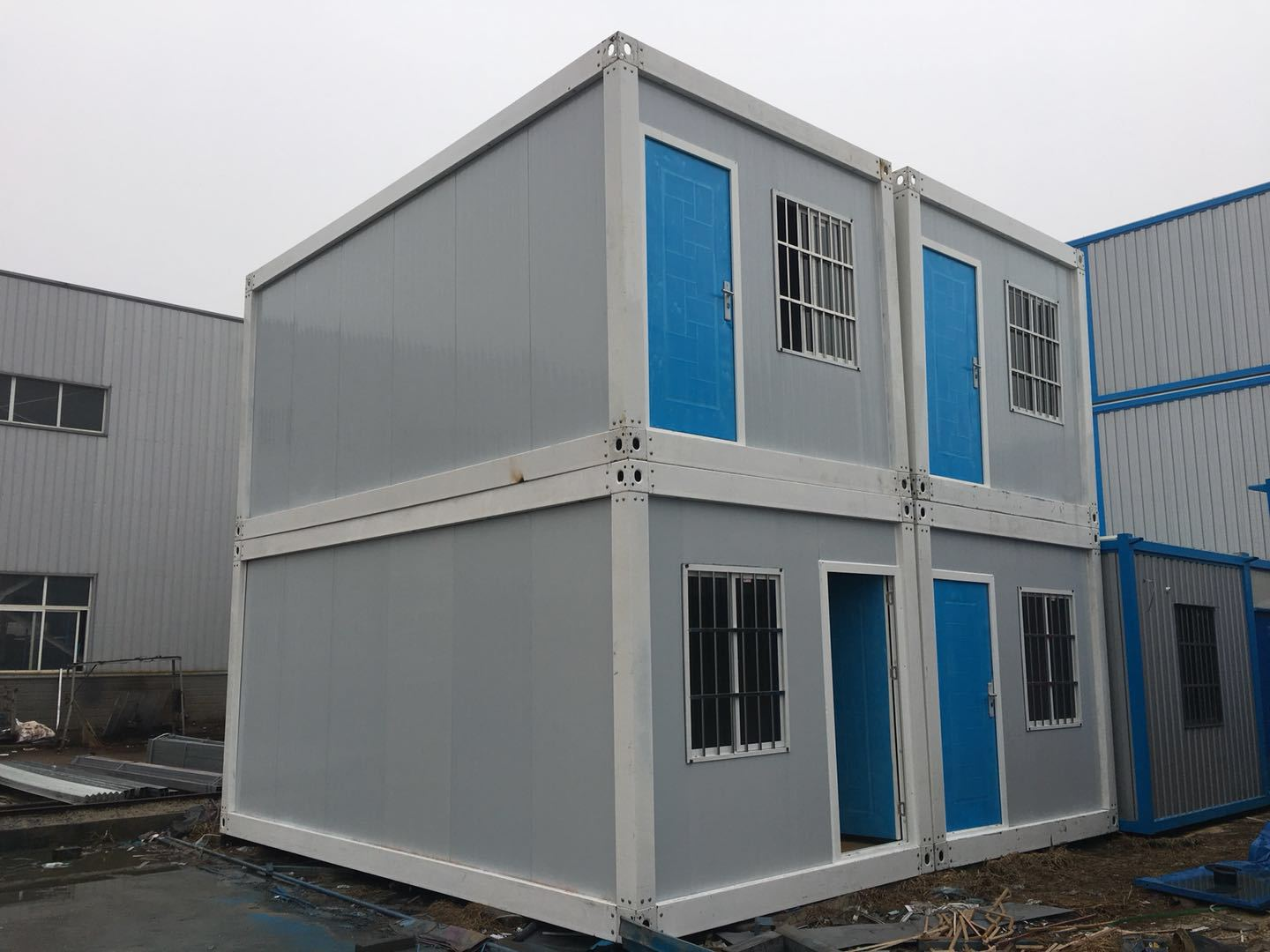 40 Ft Flat Pack Shipping Container Two Bedroom Prefab Container House Price