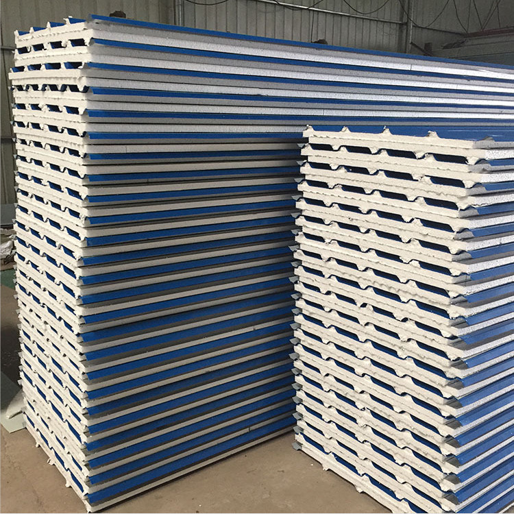 Fireproof /Insulated wall and roof PU/PUR/PIR sandwich panel for prefabricated /chicken/pig house,truck body,cold room